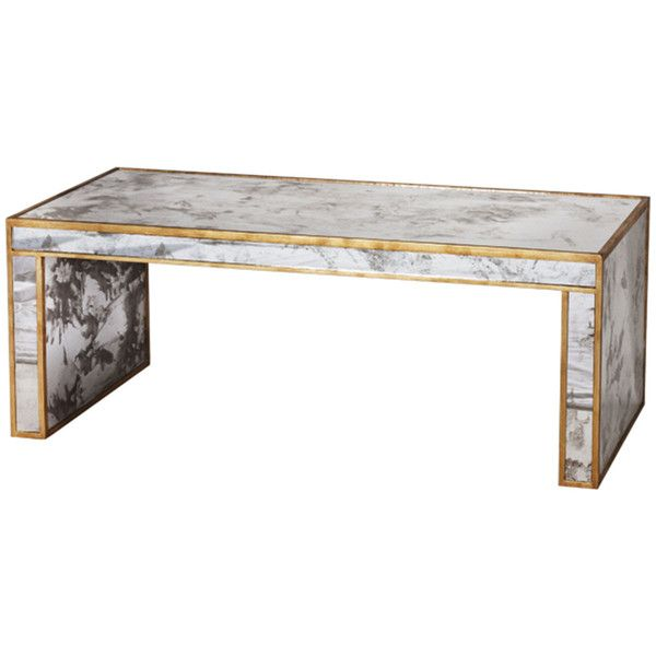 Worlds Away Antique Mirror Coffee Table Features Available Two
