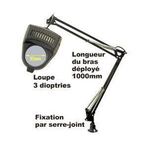 Lampe Loupe De Bureau Table Bricolage 3 Dioptries 60w E27 Blanche