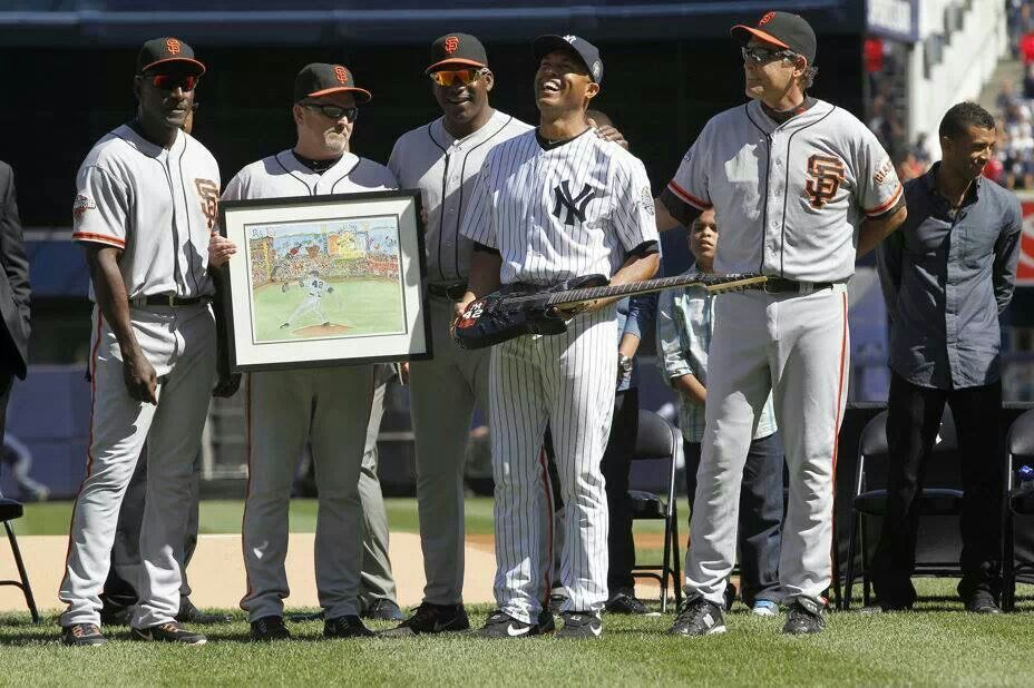 Happy Retirement, Mr. Rivera.   Gift from the Giants.