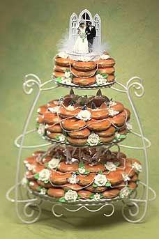 Not Quite Classy But Darned Tasty Manolo For The Brides Donut Wedding Cake Doughnut Wedding Cake Krispy Kreme Wedding Cake