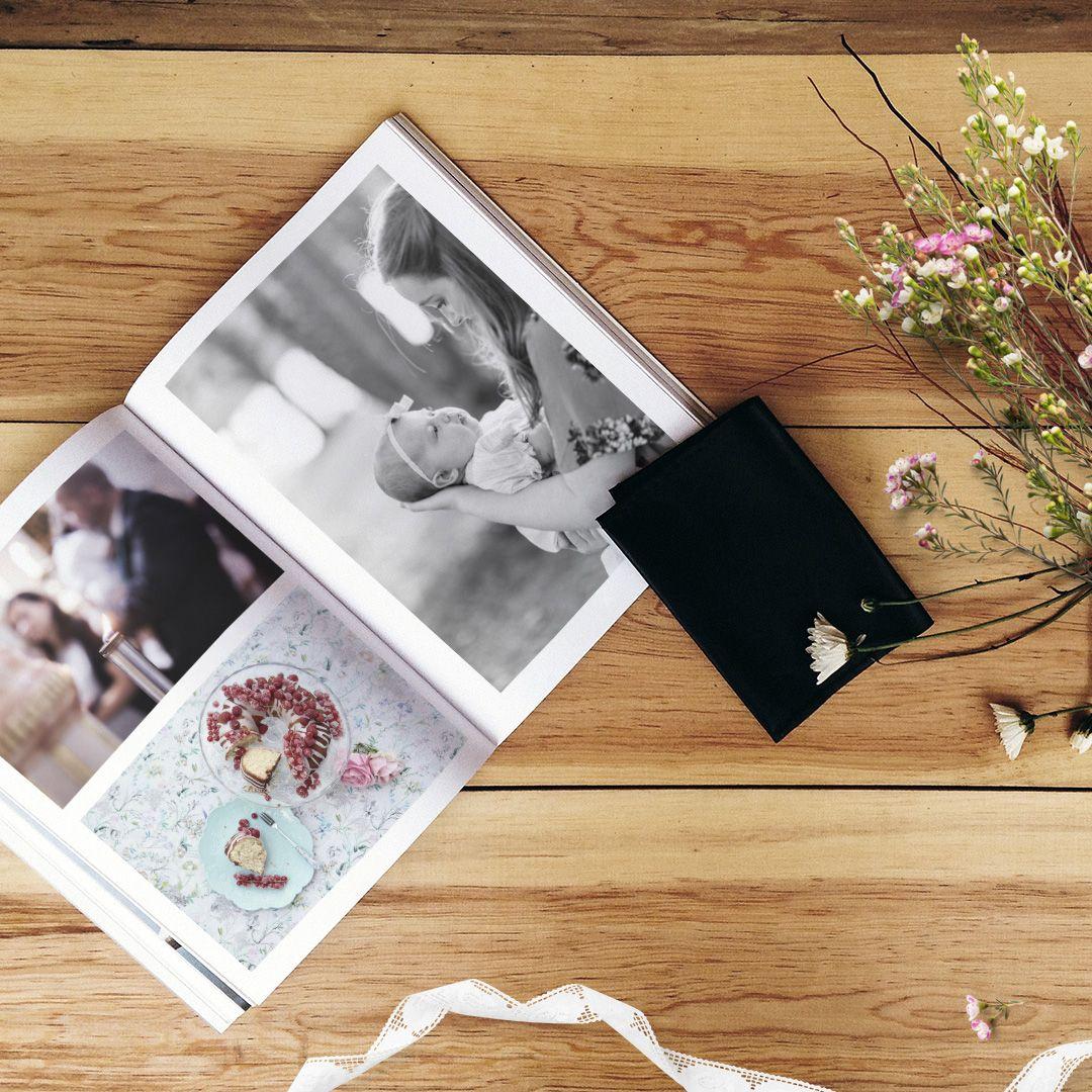 Einfach Simple Hardcover 234x296 Mm Dunkel Bisquite Foto