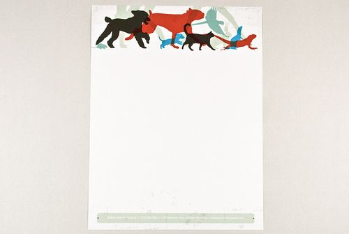 Veterinary Letterhead With Silhouetted Animals Letterhead Letterhead Design Brand Marketing Design