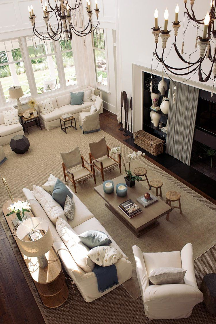 My perfect Big Living Room!  Hamptons living room, Big living