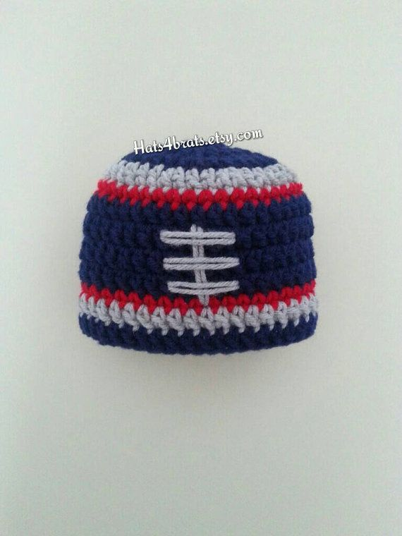 e57e0d83229 Handmade Crochet Football Hat Made to order. Hat is in soft navy
