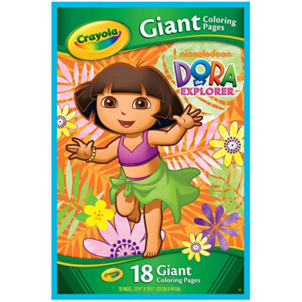 Nickeledoeon Dora The Explorer Giant Coloring Book Dora Coloring Books Crayola Coloring Pages Dora The Explorer