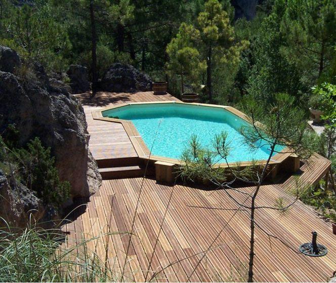 Photo des plus belles piscines en bois Ground pools, Country