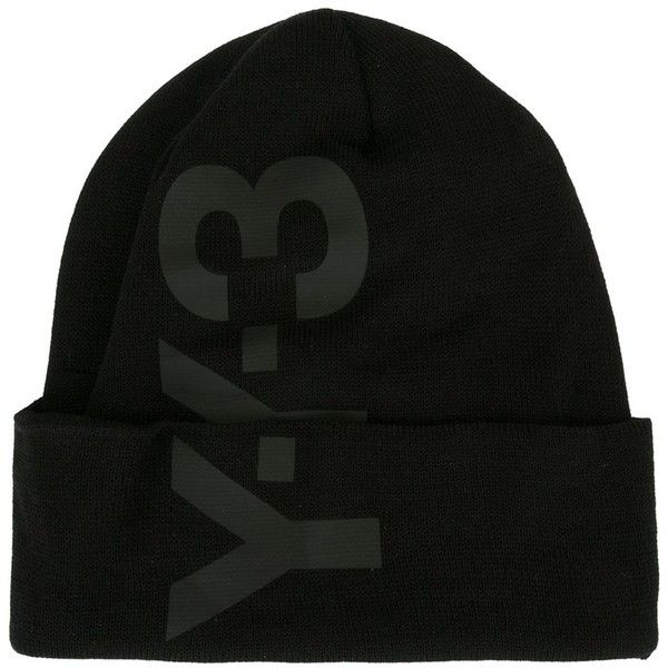 dd97f61cfa5c8 y3 Logo Beanie (256.470 COP) ❤ liked on Polyvore featuring accessories