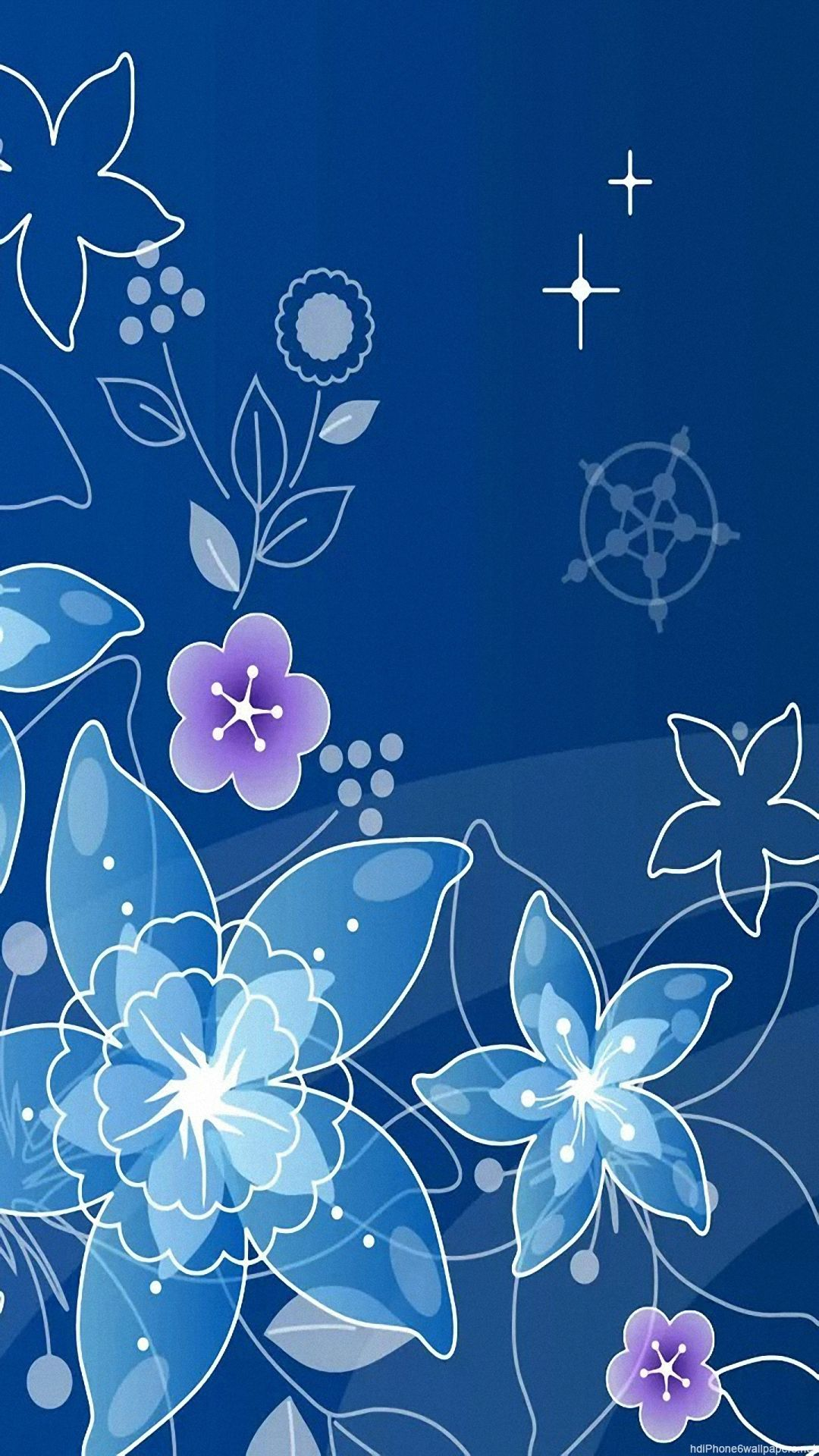 Vector Blue Flowers Image Downloads Backgrounds Wallpapers