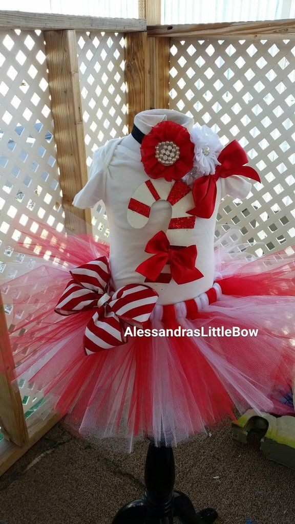 Candy Cane Christmas Tutu Outfit Birthday Tutu Outfits