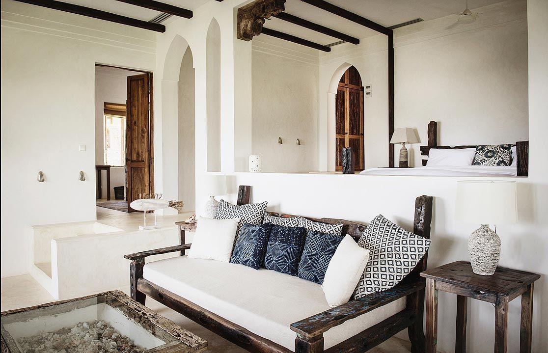Castaway bedroom private house zanzibar tanzania interiors by interior idea african interior
