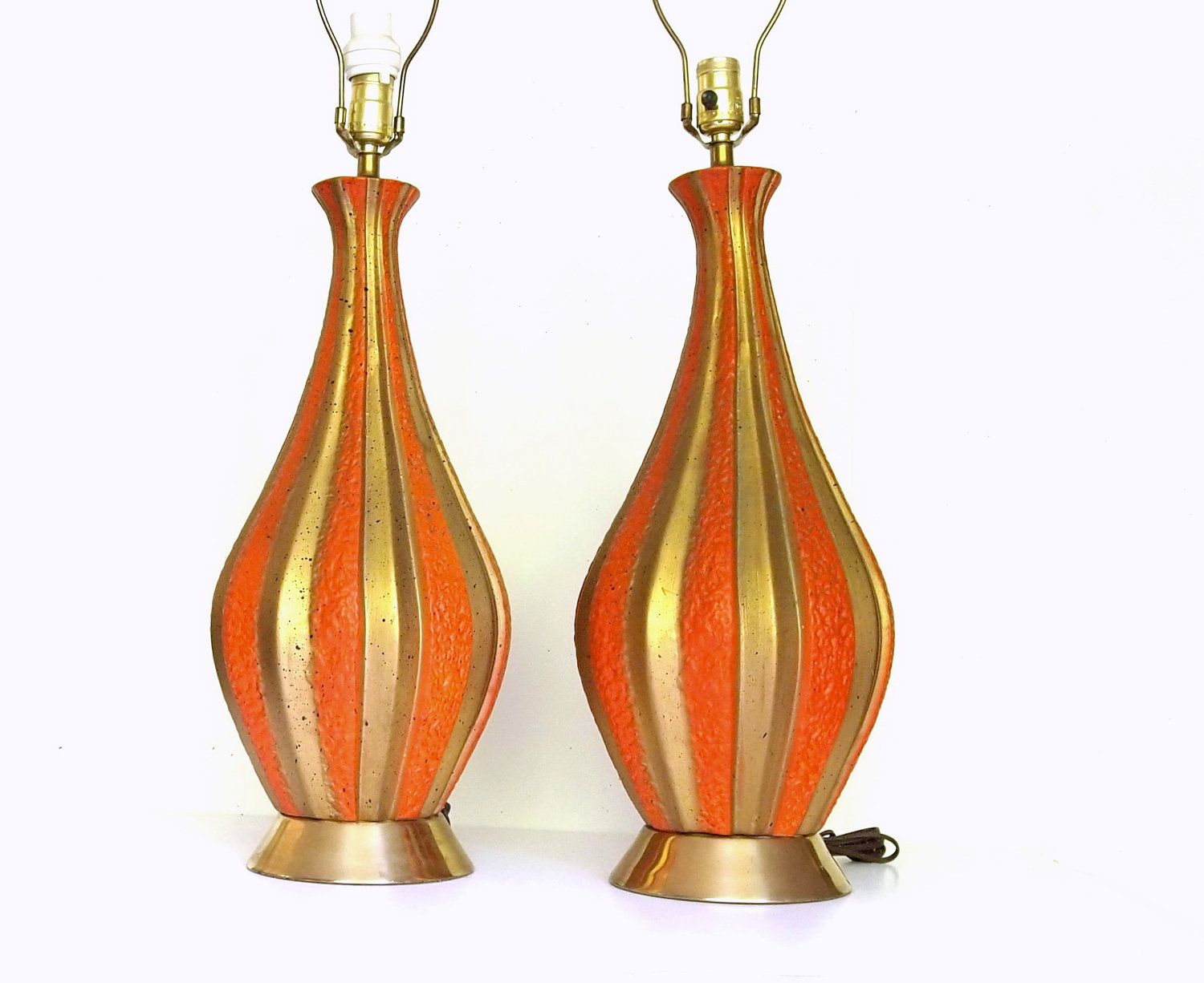 Mid Century Modern Lamps -- Matching Vintage Table Lamps -- Mad Men Decor -- 1960s lamps. $65.00, via Etsy.