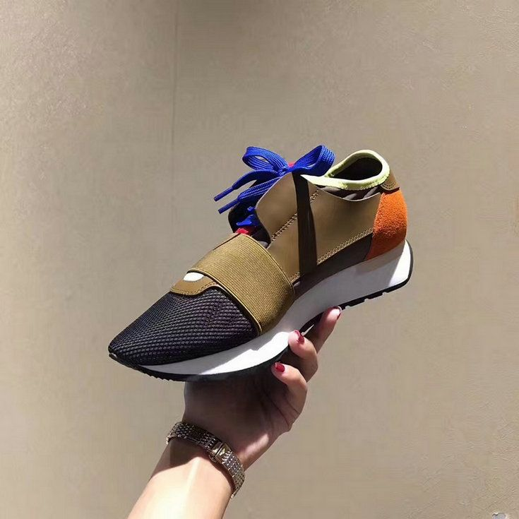 08edc6d38341 Balenciaga Race Runners Multimaterial Contrasted Runners Black Brown  Fashion Sneaker