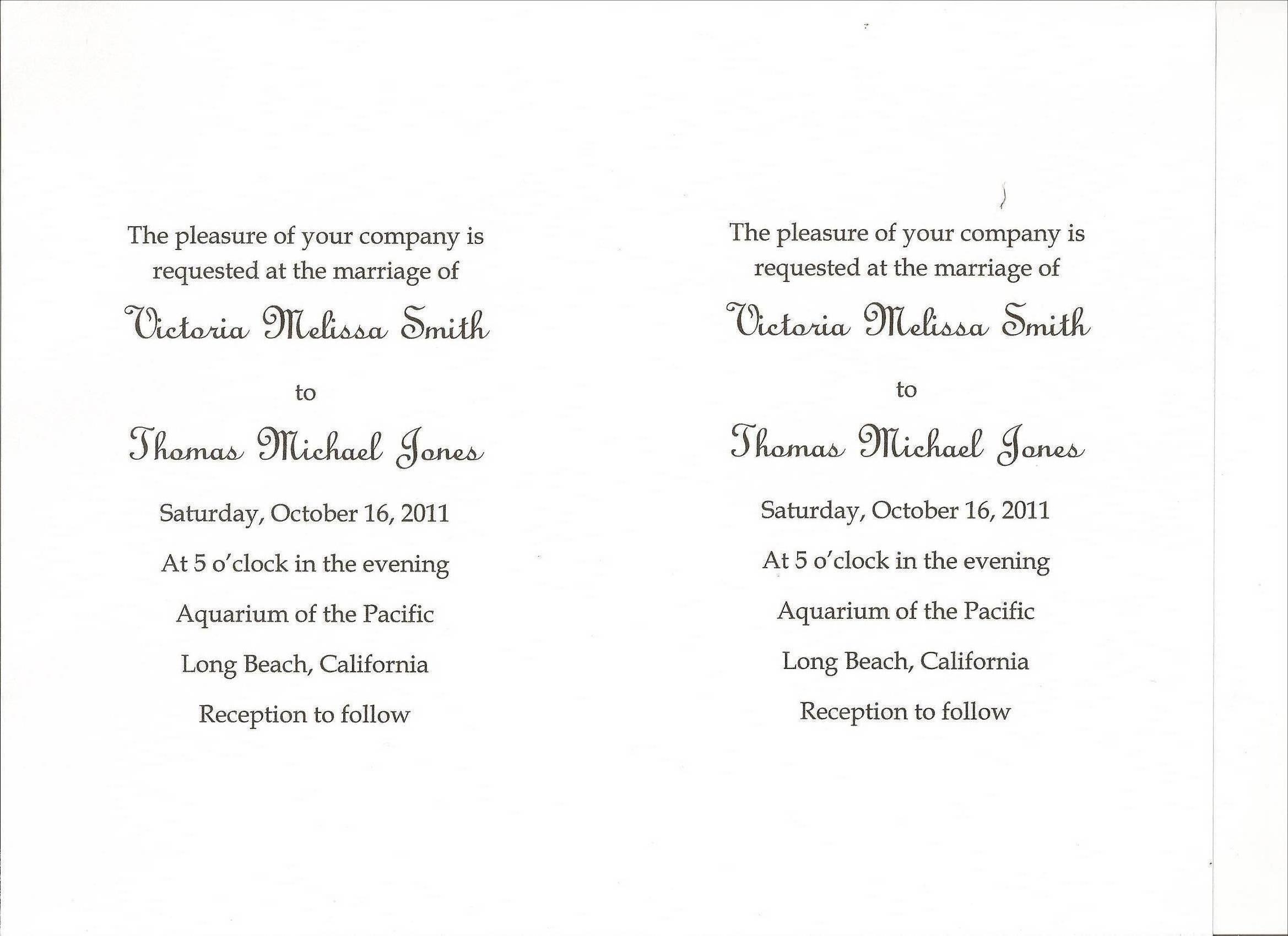 simple wedding invitation wording