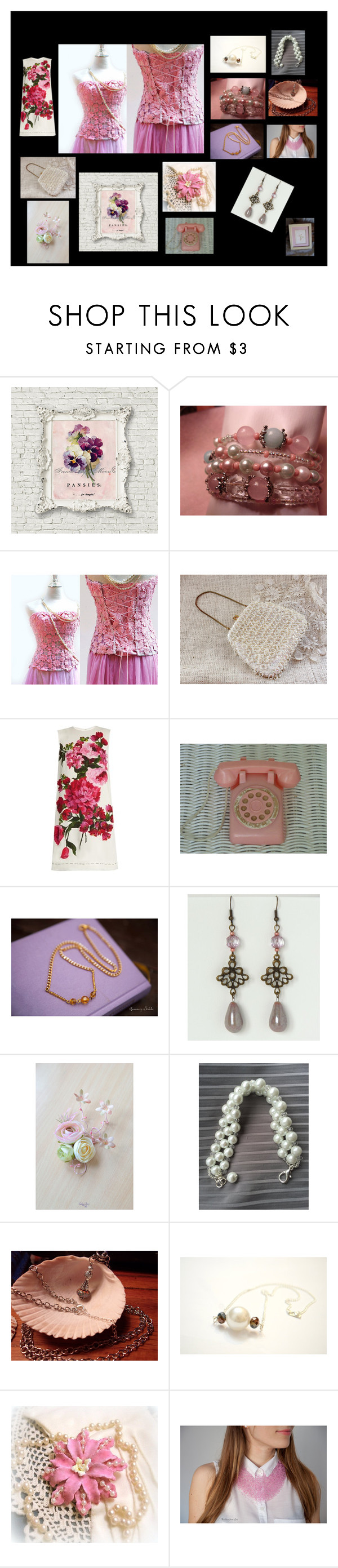 """""""Pink Wedding"""" by sharon-pipkin ❤ liked on Polyvore featuring Dolce&Gabbana"""