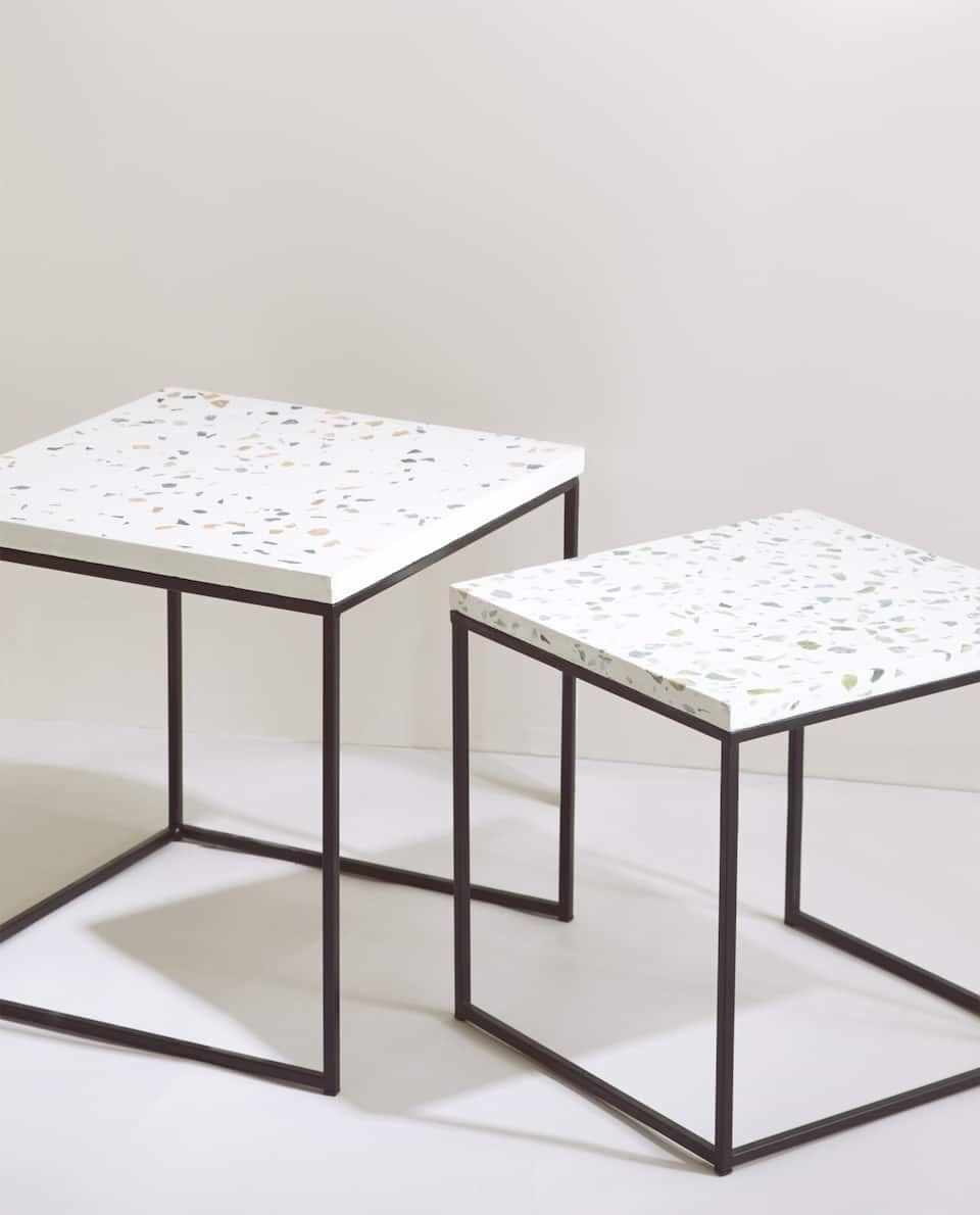 Image 6 Du Produit Table Gigogne Granito Table Basse Table Basse Marbre Table Basse Blanc