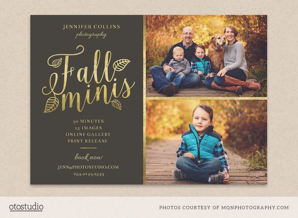 fall mini session template flyer templates on creative market