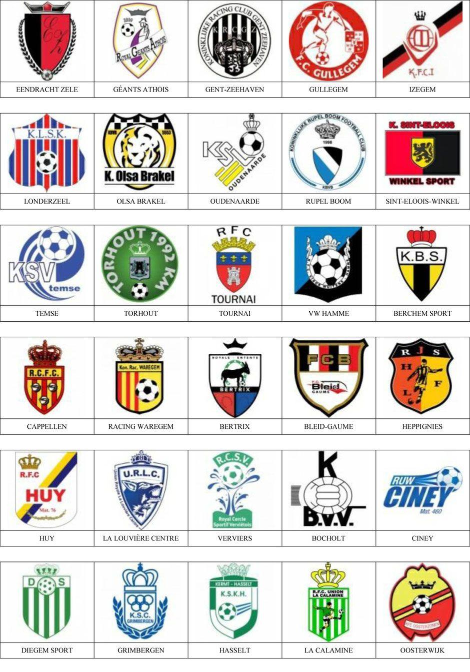 f498c664e0944 Bélgica - Pins de escudos insiginas de equipos de fútbol.