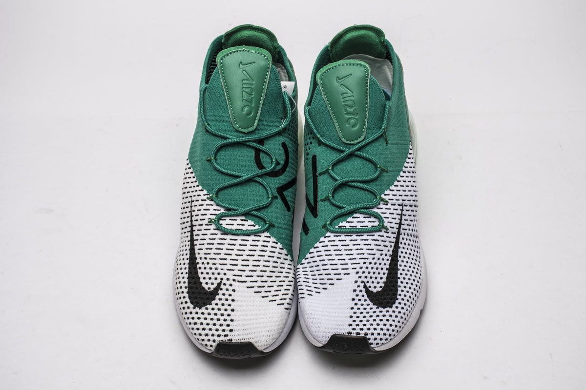 f48dbc8cbc50 Nike Air Max 270 Flyknit AH6803-300 Clear Emerald Green White Shoes ...