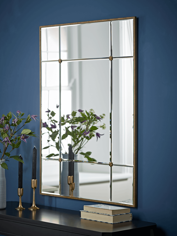 Decorative Panelled Mirror - Rectangular
