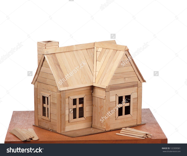 Popsicle Stick House Blueprints Google Search Mimari Tasarim