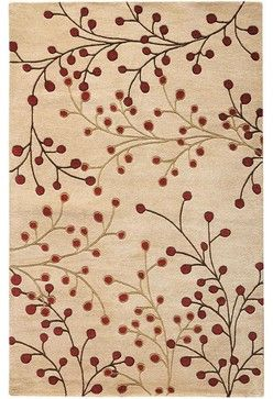 Rug I White Red Modern Rugs By Home Decorators Collection
