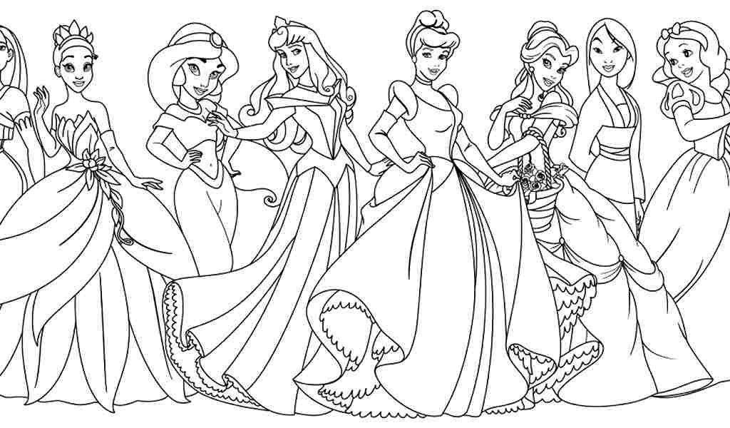 All Princess Coloring Pages Novocom Top