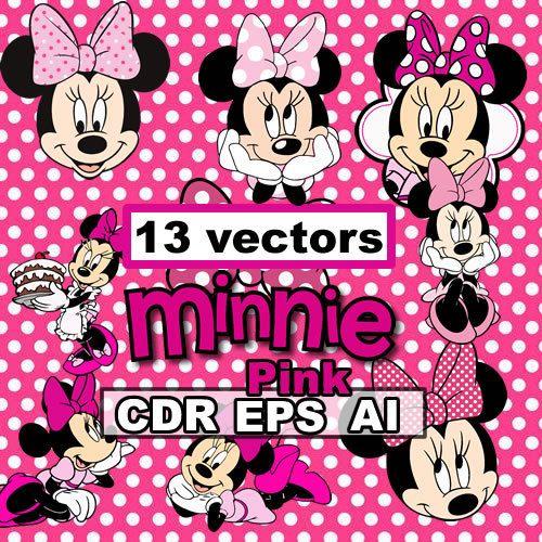 Minnie Pink 13 clipart CDR EPS AI vectors images, vector graphics ...