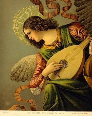 An Angel Playing the Lute by Melozzo da Forli
