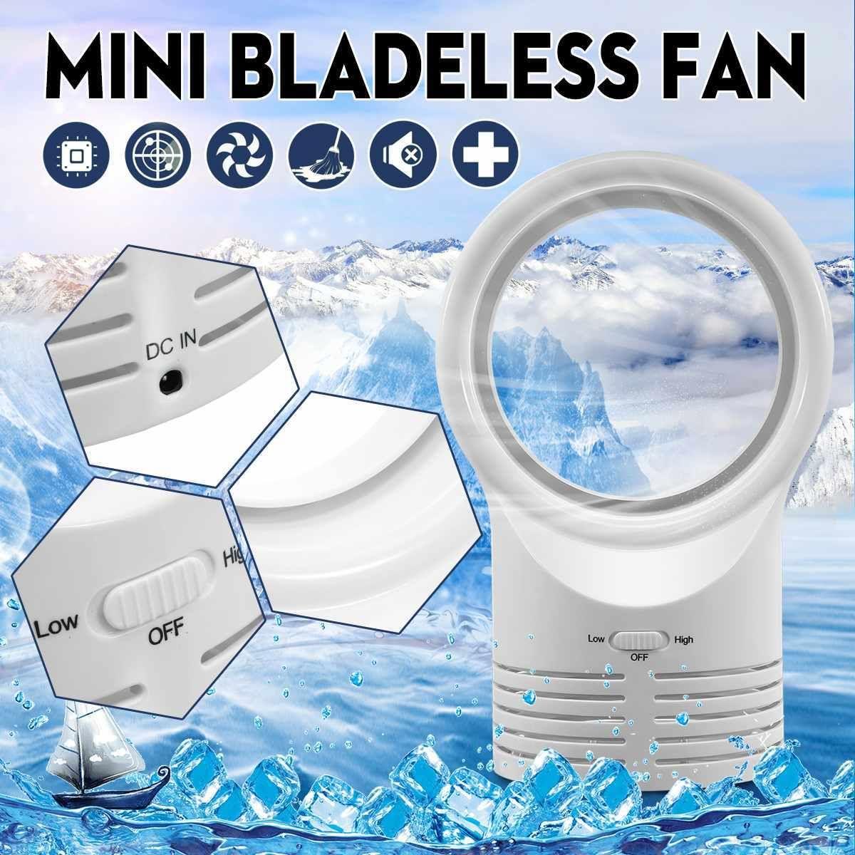 12v Portable Usb Bladeless Fan Electric Table Mini Bladeless