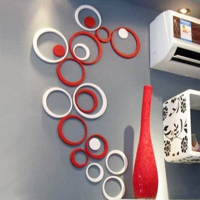 Can Buy Wooden Circles At Hobby Lobby Spray Paint And Hang In Any Design Very Cool Idea Hidden Mickeys By Diy Wall Stickers Wall Stickers Geometric Diy Wall