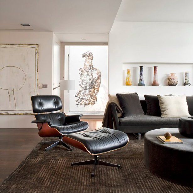 Eames Lounge Chair & Ottoman | Ottomans, Eames chairs and Interiors