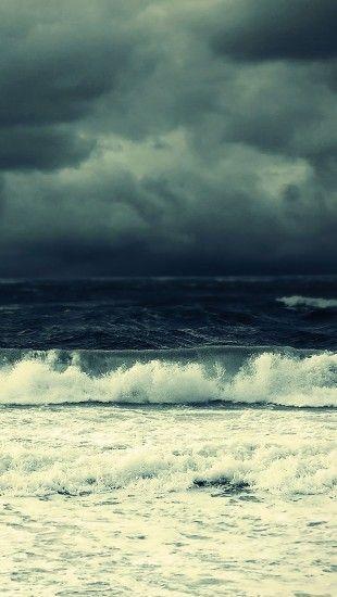 Dark Sea Storm Theiphonewallscom Tmcp Sea Storm