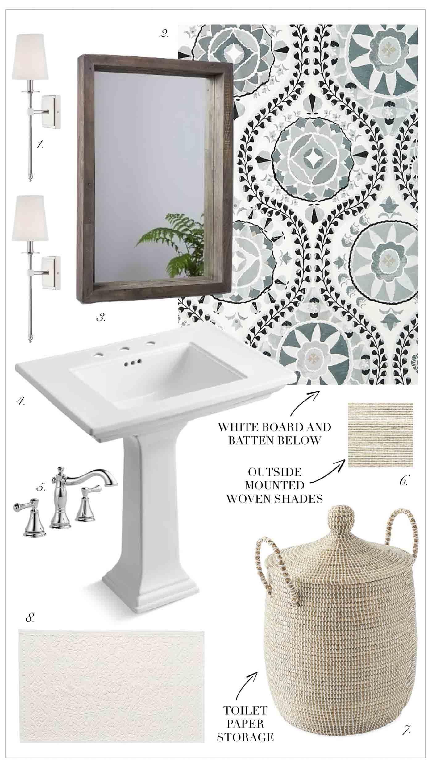 Four Potential Powder Room Design Ideas Kelley Nan Powder Room Small Small Half Baths Small Half Bathrooms