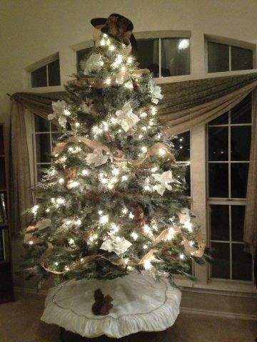 Texas Christmas Tree! Love the cowboy hat topper! Christmas Crafts