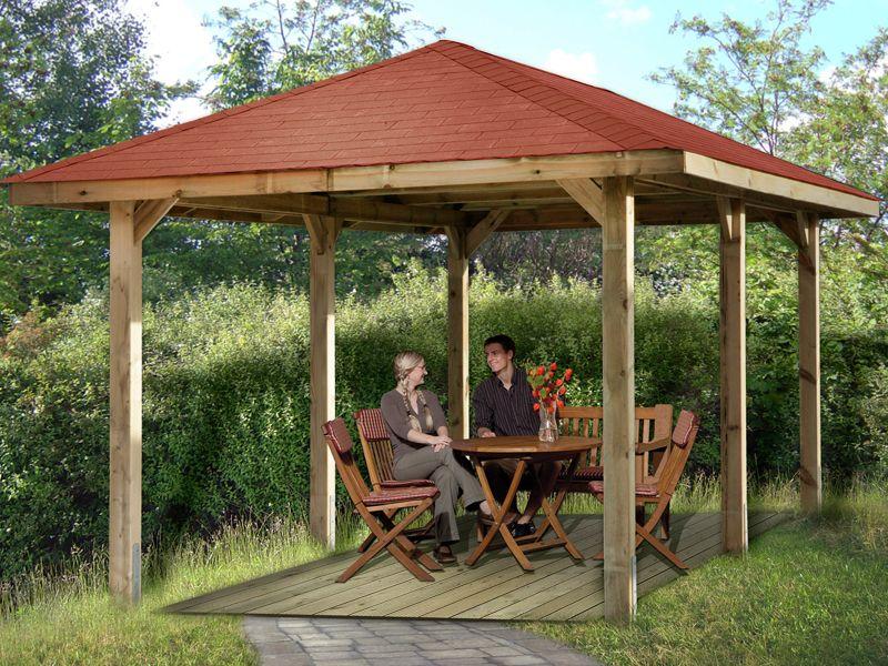 Weka Paradies 5 Gr 1 Gartenlaube Sparset Inkl Dachschindeln Gartenlaube Dachschindeln Weka Gartenhaus