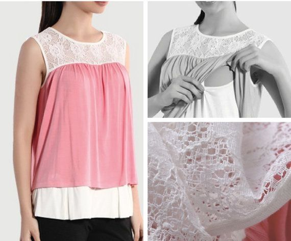 Elegant Nursing Sleeveless Shirt No Instructions But Looks Easy Enough Diy Maternity Clothes Maternity Clothes Breastfeeding Shirt