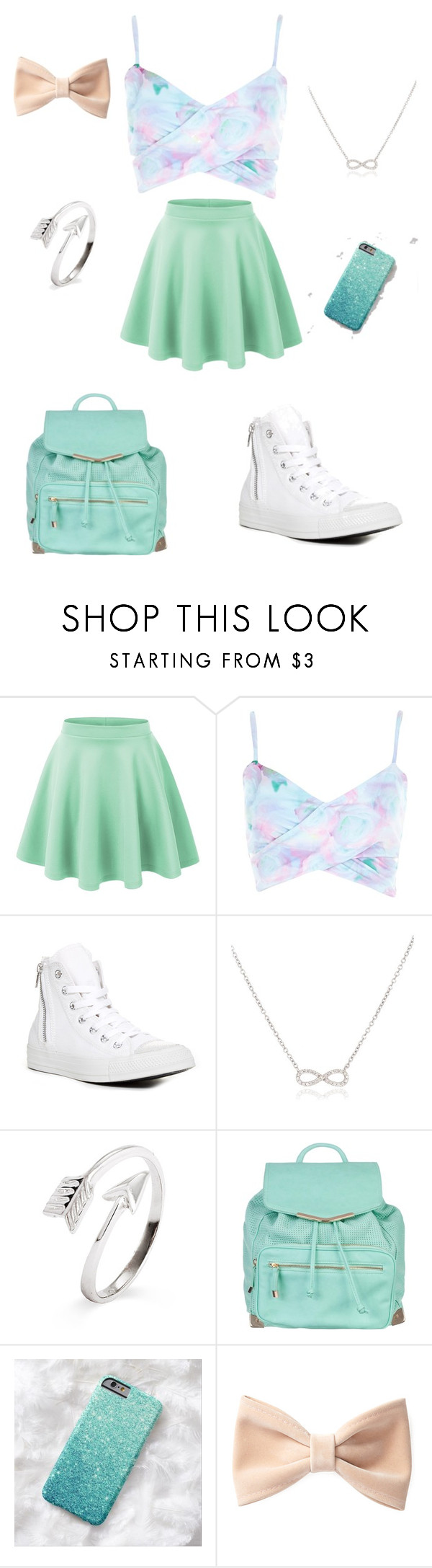 """""""mint dream"""" by synclairel ❤ liked on Polyvore featuring River Island, Converse, Adina Reyter, Atmos&Here and Forever 21"""