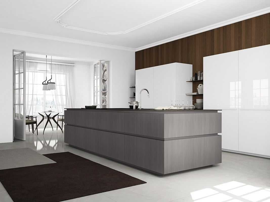 cocina en apartamento rehabilitado, con isla central para fregadero ...