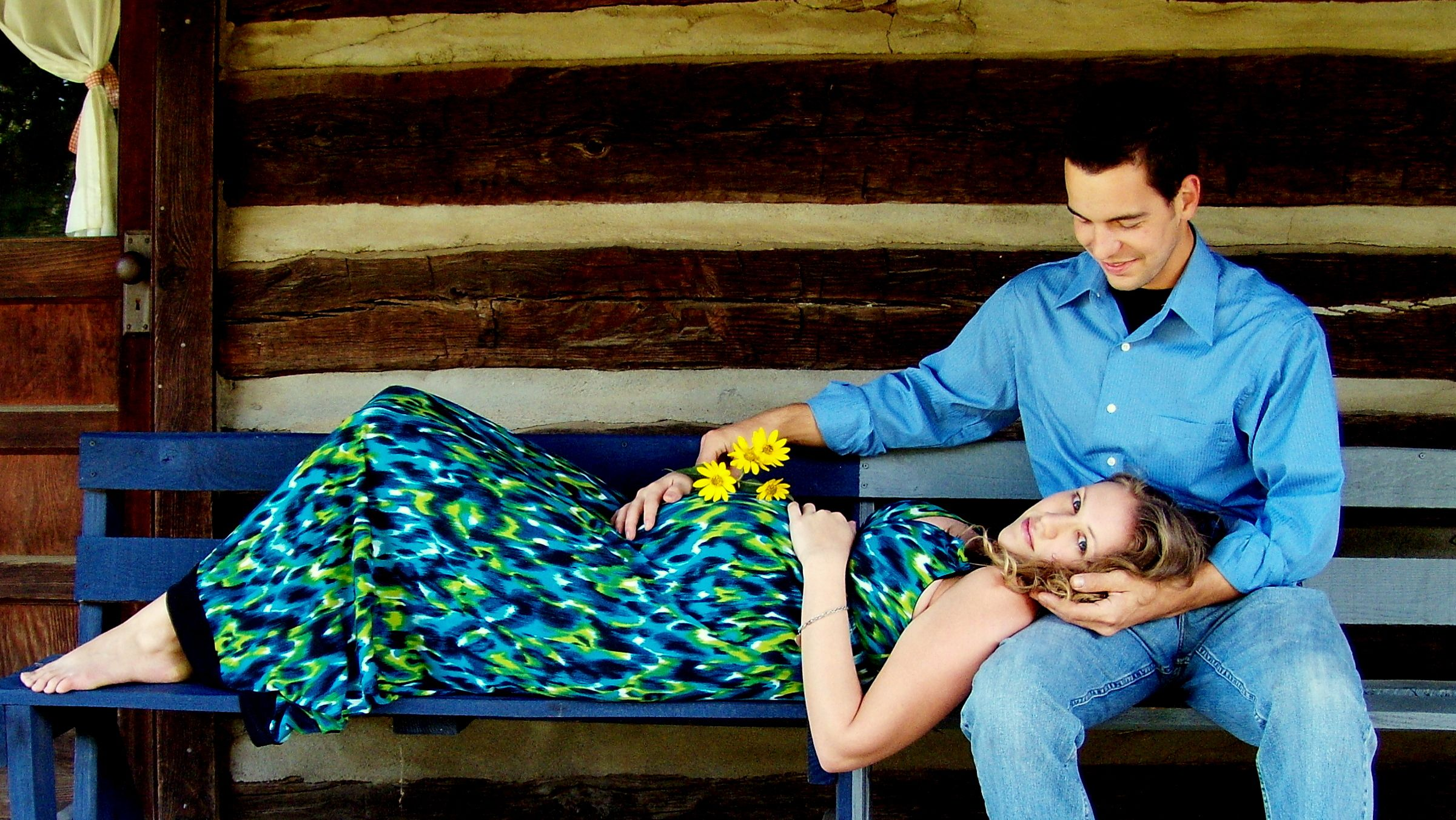 Bench at a park. My favorite pregnancy photo