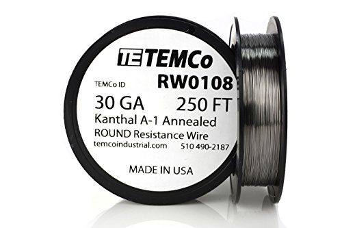 TEMCo Kanthal A1 wire 30 Gauge 250 Ft Resistance AWG A1