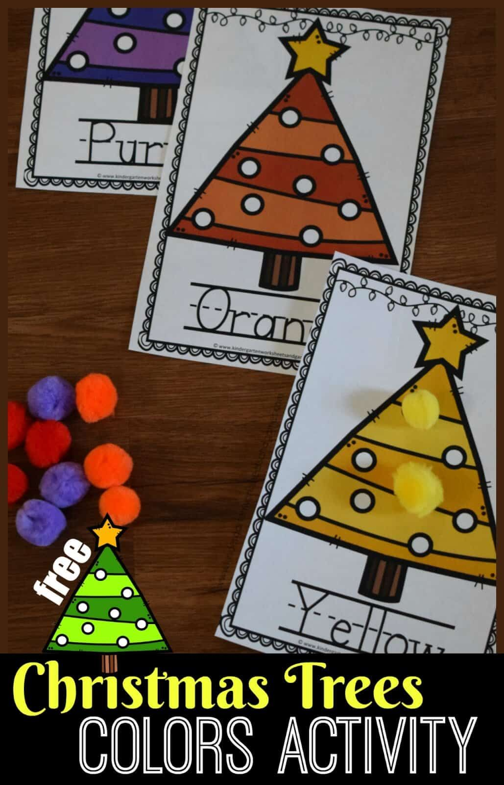 FREE Christmas Tree Colors Activity Christmas learning
