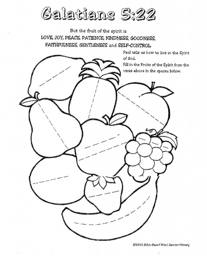 graphic relating to Fruits of the Spirit Printable referred to as Culmination Of The Spirit Coloring Internet pages Fresh Fruit Contentment Gallery