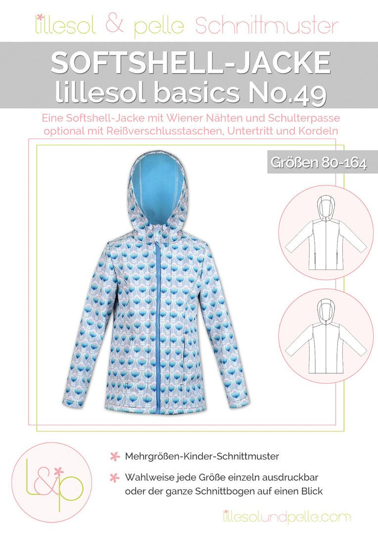 Ebook / Schnittmuster lillesol basics No.49 Softshelljacke | Sew ...