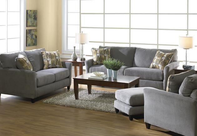 Jackson Furniture   Maggie 4 Piece Living Room Set In Dove/Goldenrod