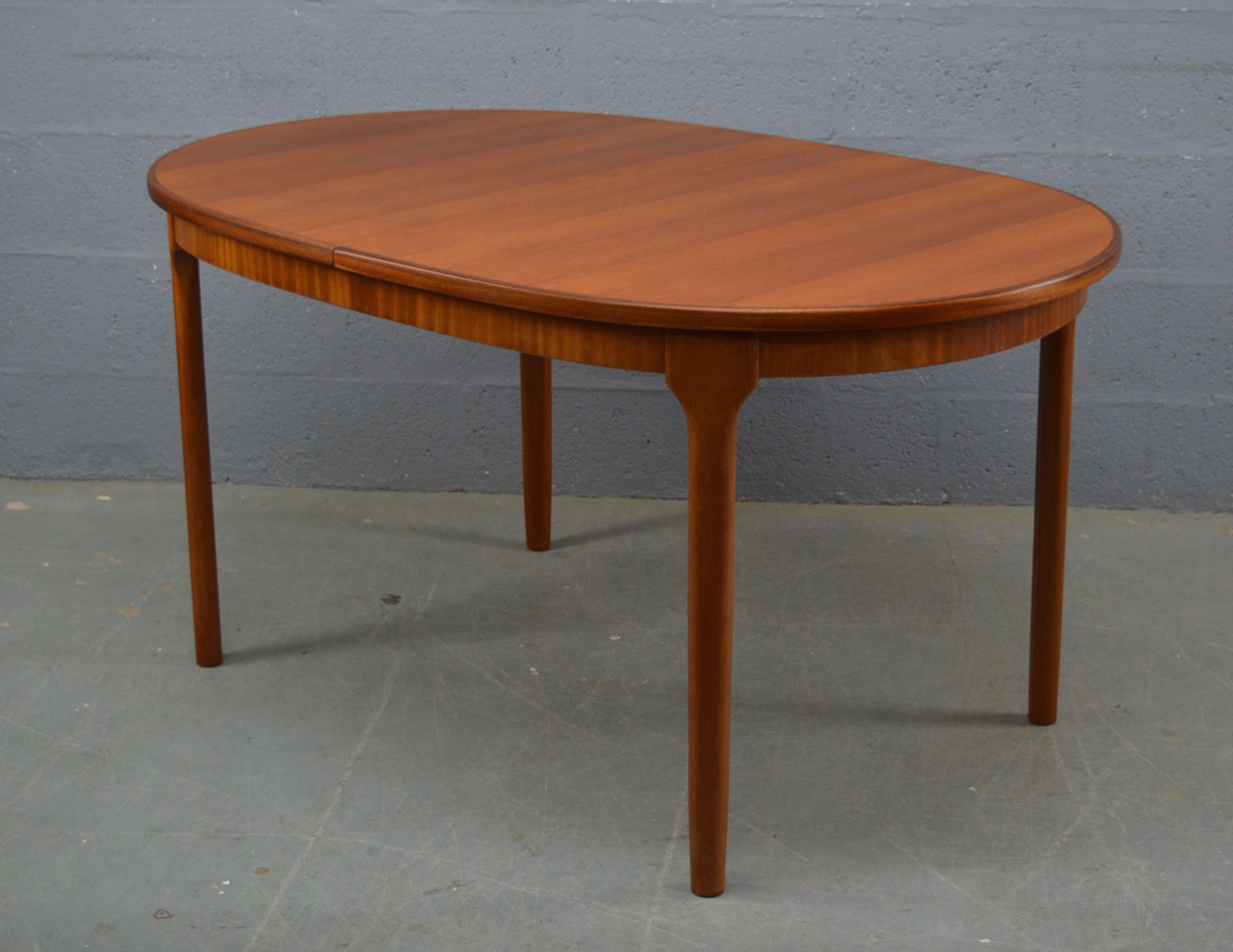 Vintage 1970s Mid Century Oval Dining Table By Mc Intosh Dinning