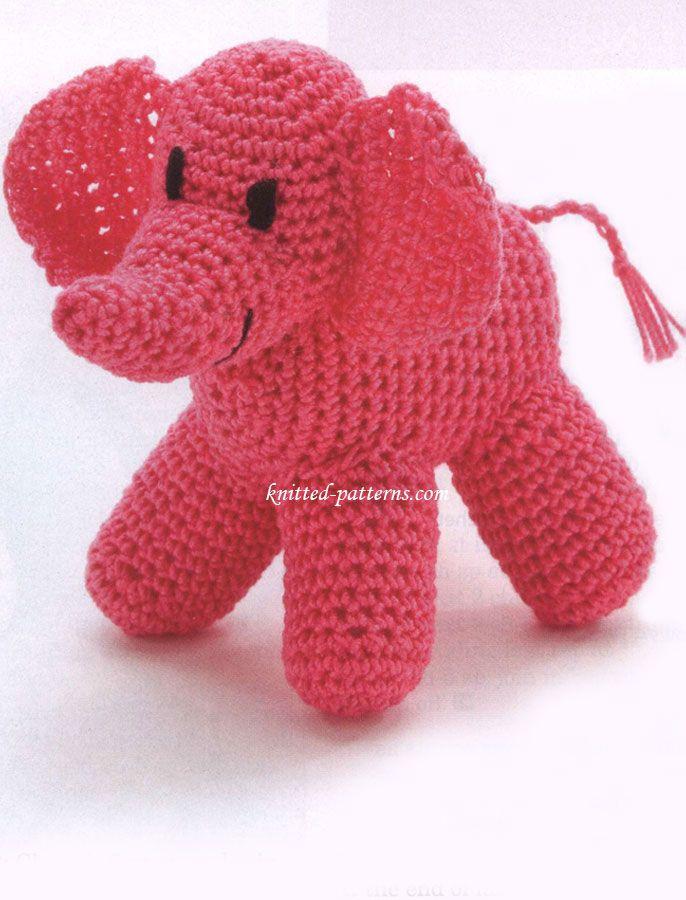 Crochet elephant   Free Crochet Patterns Amigurumi   Pinterest ...