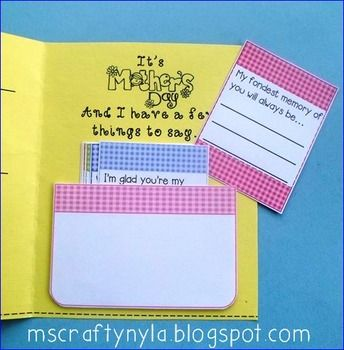 Day Cards with Writing Prompts Inserted