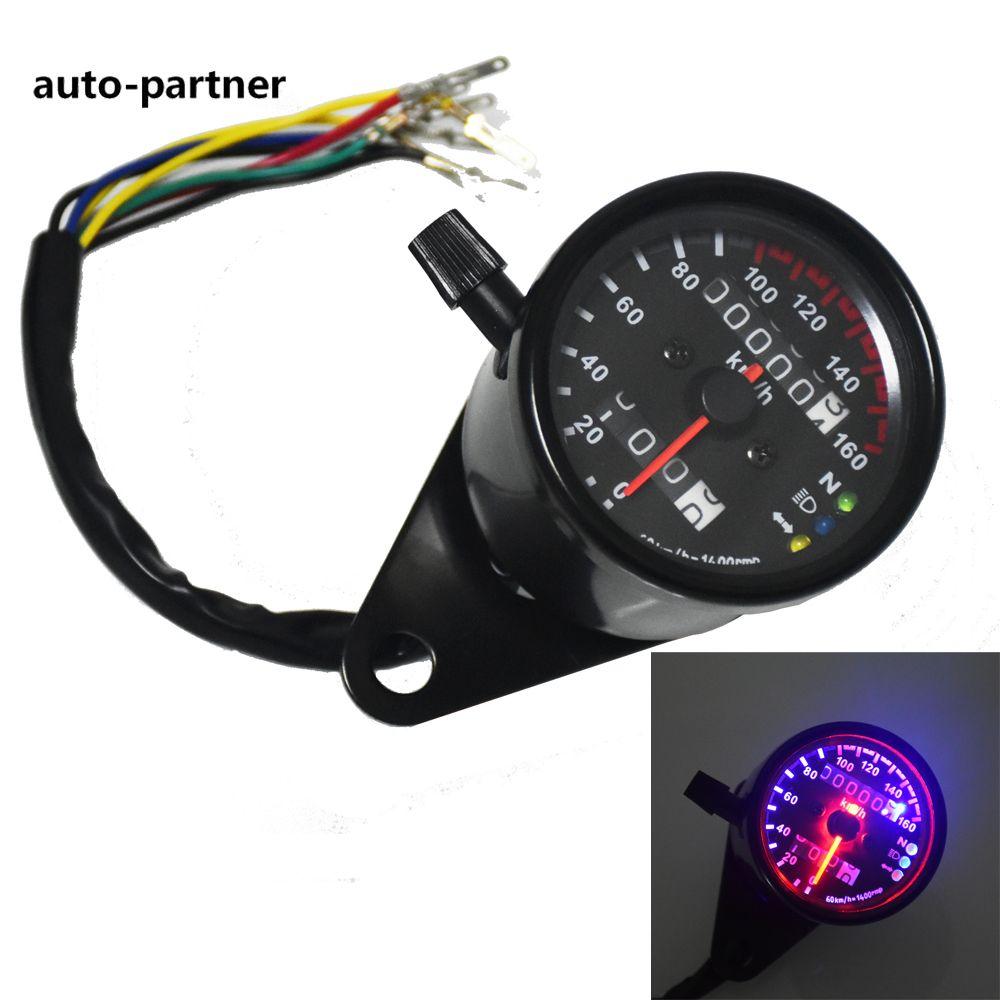 12V 7-Color LED Backlight Motorcycle ATV Digital Speedometer Odometer Gauge KMH