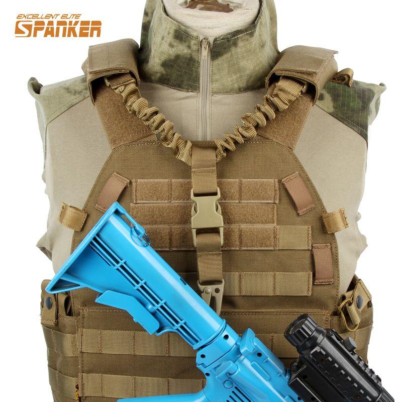 Tactical Single Point Pistol Handgun Spring Lanyard Sling Quick Release StrODLK