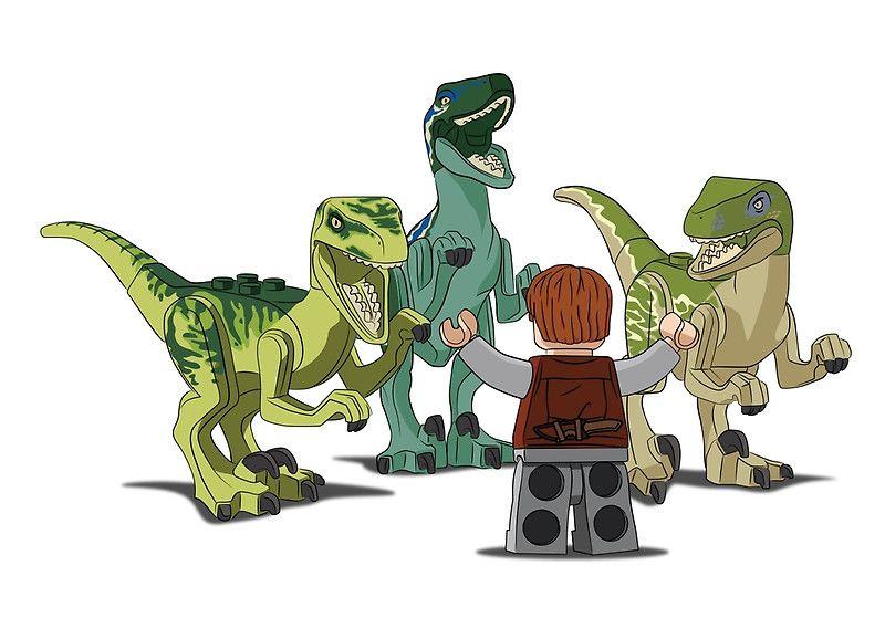 Owen and Raptors (LEGO)   Art   Pinterest